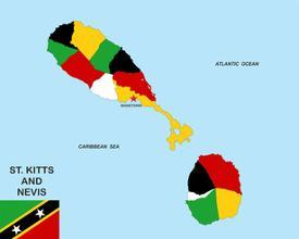 Affordable Maps of Saint Kitts and Nevis Posters for sale at ...