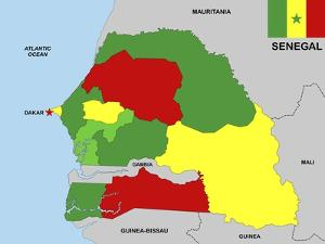 Senegal Map by tony4urban
