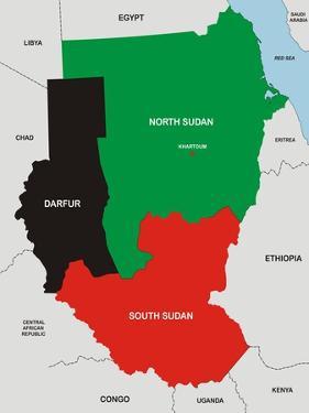 Sudan Map by tony4urban
