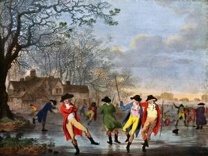 Winter Amusement: a View in Hyde Park from the Moated House, Late 18th Century by Tookey