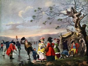 Winter Amusement: a View in Hyde Park from the Sluice at the East End, Late 18th Century by Tookey