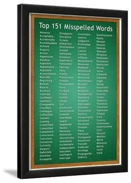 Top 151 Commonly Misspelled Words Educational Poster