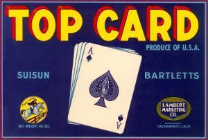 Top Card, Orange Crate Label