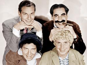 Top, from left: Zeppo Marx, Groucho Marx; bottom: Chico Maarx, Harpo Marx (the Marx Brothers)