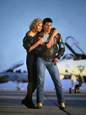 Top Gun by Tony Scott with Kelly McGillis and Tom Cruise, 1986 (photo)