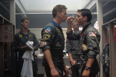 Top Gun by Tony Scott with Val Kilmer and Tom Cruise, 1986 (photo)