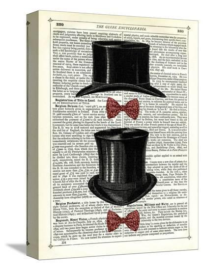 Top Hat & Bow Ties-Marion Mcconaghie-Stretched Canvas