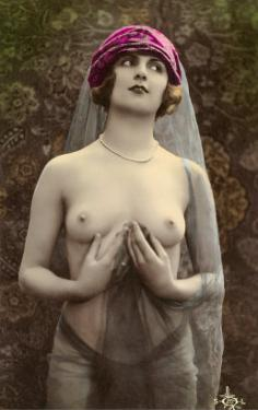 Topless Woman with Veil
