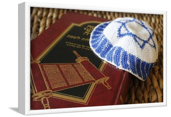 Torah and Kippah, France-Godong-Framed Photographic Print