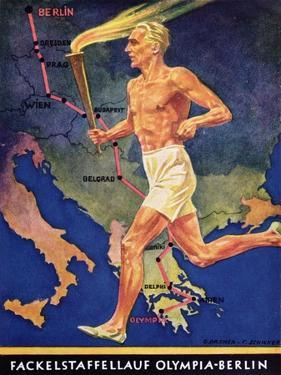 Torch Bearer at the Berlin Olympic Games, 1936