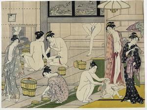 The Bathhouse Women, 1790S by Torii Kiyonaga