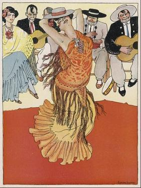 Female Dancer Accompanied by Guitars and Singers Who Also Keep the Rhythm by Clapping by Torne Esquius