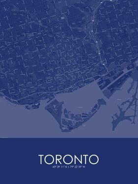 Toronto, Canada Blue Map