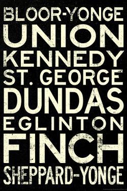 Toronto Metro Stations Vintage Travel Poster