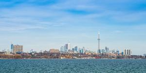 Toronto skylines at the waterfront, Ontario, Canada