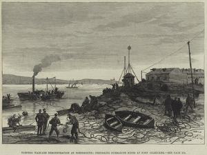 Torpedo Warfare Demonstration at Portsmouth, Preparing Submarine Mines at Fort Gilkicker