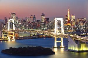View of Tokyo Bay Area at Twilight by Torsakarin