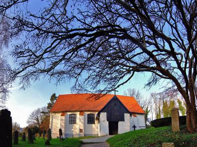 Baltic Sea Island of Hiddensee, Cloister, Village Church and Cemetery Island