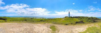 Panoramic View at Island Hiddensee in the Direction of South, Left: the Bodden, Dornbusch