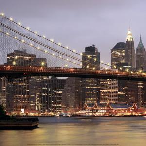 Nightmood of Downtown Manhattan by Torsten Hoffmann