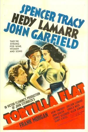 TORTILLA FLAT, from left: Spencer Tracy, John Garfield, Hedy Lamarr, 1942.