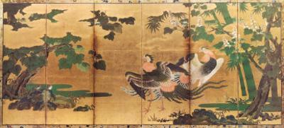 Phoenix and Paulownia by Tosa Mitsuyoshi