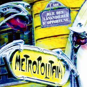 Antique Metro Sign, Paris by Tosh