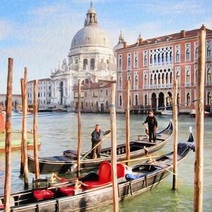 Gritti Palace Gondolas, Venice by Tosh