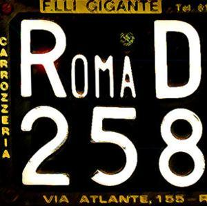 License Plate, Rome by Tosh