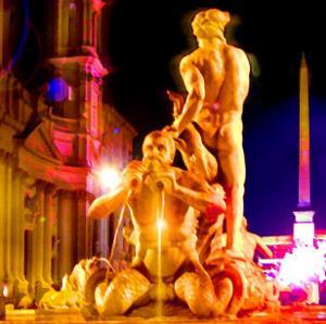 Piazza Navona Night, Rome by Tosh