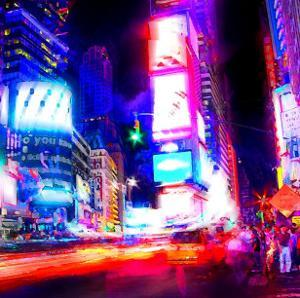 Times Square Night, New York by Tosh