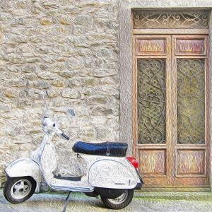 Vespa with Porte Vecchio by Tosh