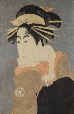 Matsumoto Yonesaburo in the Role of the Courtesan Kewaizaka No Shosho (Shinobu) by Toshusai Sharaku