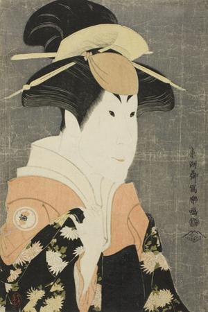 The Actor Segawa Tomisaburo II as Yadorigi, Wife of Ogishi Kurando, 1794 by Toshusai Sharaku