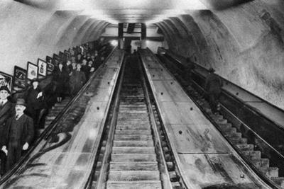 Tottenham Court Road Tube Station Escalators, London, 1926-1927