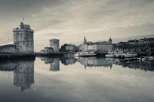 Tour St-Nicholas and Tour De La Chaine Towers at Dawn, Old Port, La Rochelle, Charente-Maritime