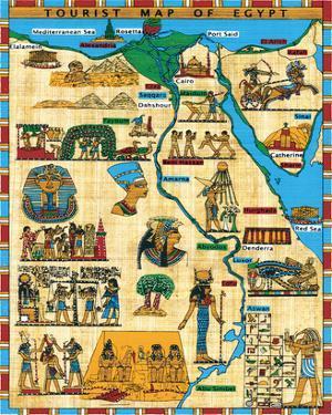 Tourist Map of Egypt