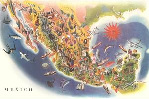 Tourist Map of Mexico