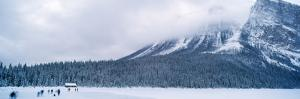 Tourists at Banff National Park in Winter, Calgary, Alberta, Canada