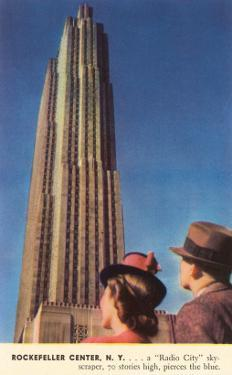 Tourists Gazing at RCA Building, New York City