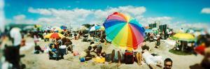 Tourists on the Beach, Coney Island, Brooklyn, New York City, New York State, USA
