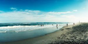 Tourists on the Beach, Fort Tilden Beach, Fort Tilden, Queens, New York City, New York State, USA