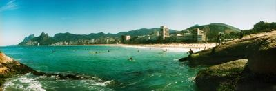 Tourists on the Beach, Ipanema Beach, Rio De Janeiro, Brazil