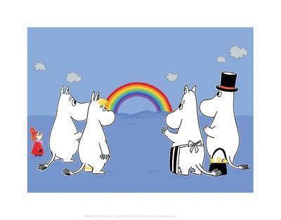 The Moomins Enjoying the Rainbow