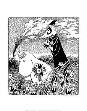 Vintage Moomin Illustration by Tove Jansson
