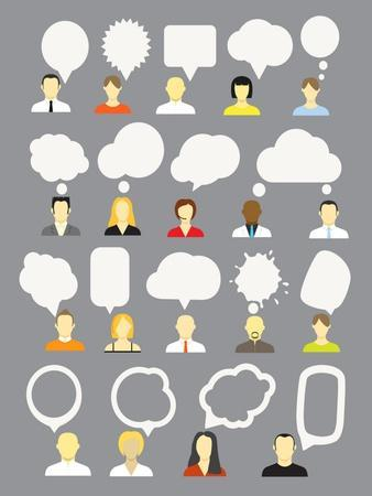 Different People With Speech Bubbles Collection