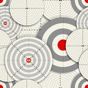 Seamless Background Of Targets by tovovan
