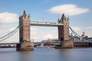 Tower Bridge, Thames River, London, England