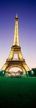 Tower Lit Up at Night, Eiffel Tower, Champ De Mars, Paris, Ile-De-France, France