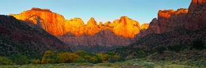 Towers of the Virgin and the West Temple in Zion National Park, Springdale, Utah, USA